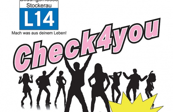 "Plakat der Bildungsmesse Stockerau mit dem Titel ""Check4You""."